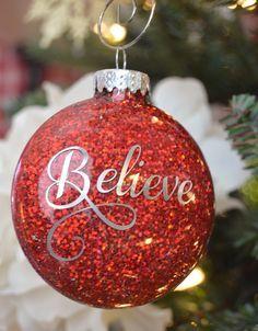 Beautiful Ideas For Glitter Christmas Ornaments