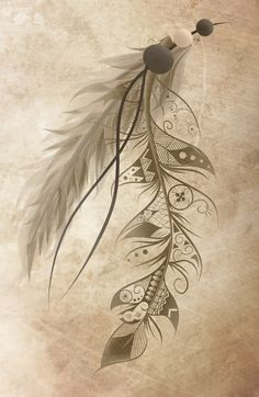 Really dig the boho detail in the feather..