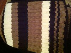 Tunisian crochet afghan I made for me.
