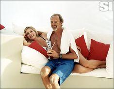 Maria Sharapova hangs out with legendary photographer, Walter Iooss, Jr.