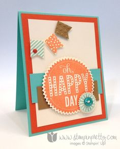 Stampin up pretty order mary fish stamps it starburst sayings framelits die big shot banner punch blast card idea