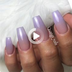 Quang Ho, Rochester, N.Y. Quangs_Nayla #ombrenails Violet Ombre, Purple Ombre Nails, Purple Acrylic Nails, Violet Nails, Simple Nail Art Designs, Acrylic Nail Designs, Glitter Acrylics, How To Beach Waves, Purple Pastel