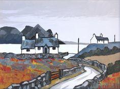 Near Trefor by British Contemporary Artist David Barnes