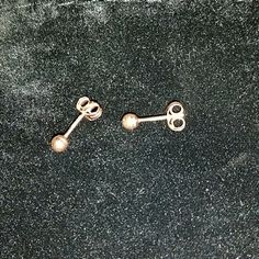 14k Rose Gold ball Studs 3mm Earrings,  14k Rose Gold ball Studs 3mm  These are tiny - to give you an idea, they are about the size of newborn or small child's earrings. (They are intended for an adult as they do not have the extra secure locking backing like a childs)  Price is firm, unless bundled Jewelry Earrings
