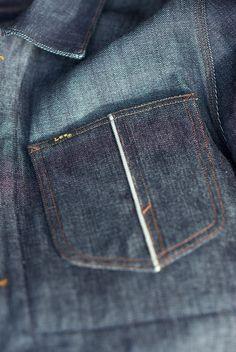 lee denim selvedge pocket