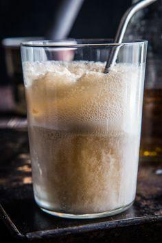 Cream Soda Rum Float - Vanilla ice cream, Cream Soda & Captain Morgan