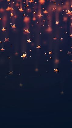 Golden Falling Stars iPhone 6 Wallpaper