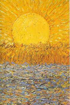 Vincent van Gogh - Le Soleil In this eternal winter, this is the next best thing. Van Gogh hits me harder than any other painter Art Van, Van Gogh Pinturas, Art Amour, Van Gogh Paintings, Famous Paintings Monet, Renoir, Art Plastique, Oeuvre D'art, Oeuvres