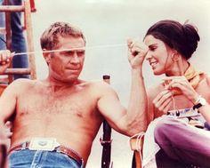 Steve McQueen and Ali Macgraw.