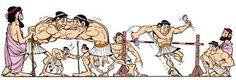Risultati immagini per i giochi olimpici antichi a fumetti