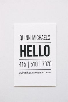 Quinn Letterpress Calling Cards Set of 50 by inhauspress on Etsy
