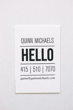 Quinn Letterpress Calling Cards Set of 50 van inhauspress op Etsy Logo Design, Graphic Design Typography, Branding Design, Diy Design, Cool Business Cards, Business Card Design, Creative Business, Business Tips, Cv Inspiration