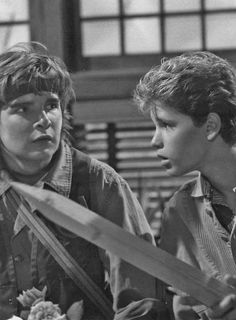 "Corey Feldman & Corey Haim in ""The Lost Boys"""