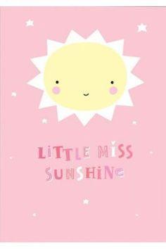 Poster Miss Sunshine rosa 50x70cm