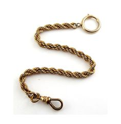 Antique Gold-Filled Pocket Watch Chain with by Gatewaytovintage