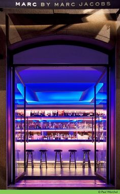 Marc by Marc Jacobs Milan Jaklitsch/Gardner Architects Restaurant Design, Restaurant Bar, Milan Bar, Marc Jacobs, Modern Store, Restaurants, Bar Design Awards, Chanel, Fashion Designer