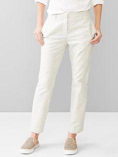 Slim cropped heathered pants