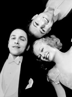 Fredric March, Gary Cooper and Miriam Hopkins in Design  for Living, 1933... a pre-code Hollywood ménage à trois..