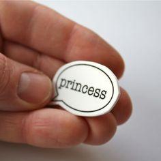 NEW ! Speech Bubble Badge - Princess £2.95