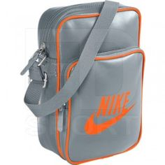 d4b627503a Nike Heritage BA4270 Grey Orange Unisex Shoulder Bag