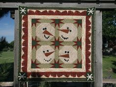 """TLC Home """"Folk-Art Yuletide Quilted Wall Hanging Pattern"""""""