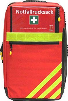 Notfallrucksack Premium II aus Nylon mit 2 Liter Sauerstoff & Wandhalterung f�r Arztpraxen VORF�HRMODELL