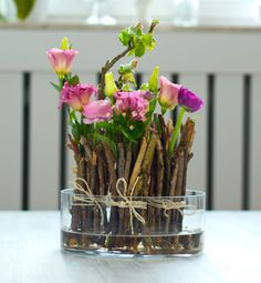 DIY: frühlingshafte Blumendeko schnell & günstig