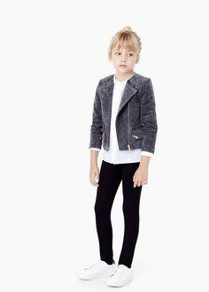 Suède jasje met rits -  Kinderen | MANGO