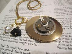 "Locket ""Steampunk Dreams"" Necklace by DreamAddict on Etsy"