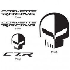 2f26fdad9427 Corvette Racing Jake Decal Pack - Black Vinyl automotive decals with  permanent