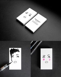 Business card for a makeup artist and hair stylist