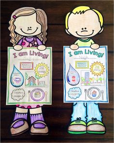a super fun introductory craftivity for a living things science unit! (the needs and characteristics of living things) 1st Grade Science, Primary Science, Kindergarten Science, Science Biology, Elementary Science, Science Classroom, Science Lessons, Teaching Science, Science For Kids