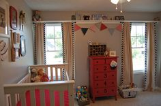 "Adorable baseball themed baby boy nursery. Inspiration for O's ""big boy"" room?"