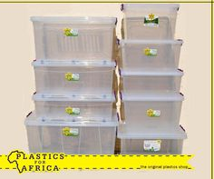 At #PlasticsforAfrica, we stock a range of clear boxes and lids in many different sizes. It is ideal for toys and camping. Visit your nearest branch today. #Storage