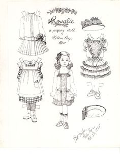 This is a lovely little girl with 3 wonderful dresses for you to color. The artist is Helen Page and was done back in 1985.
