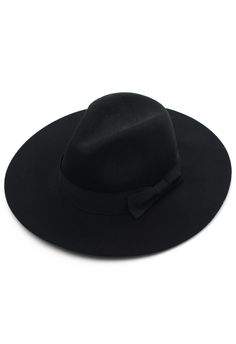 Chicwish Black Bow Floppy Hat - Hats - Goods - Retro d78613068778
