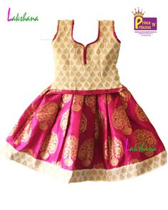 Kids Off white Pink  Grand Traditional Pattu pavadai langa only at www.princenprincess.in #pattu #pavadai #online #traditional #ethnic #princenprincess