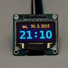 Network Time Syncronized Clock for Arduino: 3 Steps Internet Clock, Internet Switch, Internet Time, Internet Radio, Electronics Gadgets, Electronics Projects, Arduino Display, Esp8266 Projects, Esp8266 Wifi