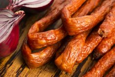These Homemade Meat Sticks Are Better than Store-Bought! Meat Dehydrator, Ground Beef, Sausage, Bacon, Homemade, Snacks, Breakfast, Food, Morning Coffee