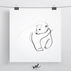 Polar Bear Art, Polar Bear Print, Polar Bear Gift Idea, Polar Bear Art Print, Single Line Drawing, Bear Illustration, Bear Drawing, Line Art by WithOneLine on Etsy