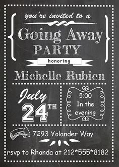63 best farewell going away invitations images in 2018 farewell