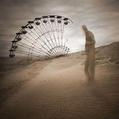 Only sand remains by Leszek Bujnowski