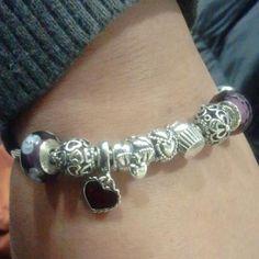 Mypandora Lovebirds Cupcake Pieceofmyheart Everlastinglove Muranogl Charms Bracelet Birthday Gift