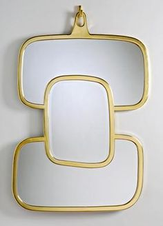Hubert LE GALL - 'Nougat' Mirror by Hubert Le Gall