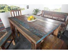 IiNTERIOR Drewniany Stół Jakarta 120x80 cm Drewno Recyklingowane - i22623