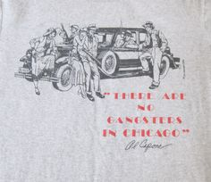 Al Capone Gangster T Shirt City Concepts Size Medium Gray Excellent Mob Chicago #FruitoftheLoom #ShortSleeve