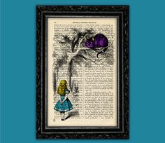 Hey, I found this really awesome Etsy listing at https://www.etsy.com/listing/186988633/vintage-curious-alice-with-cheshire-cat