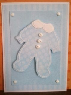 Baby Boy Pajama Handmade Embossed Baby Shower Invitation/Birth Announcement by WhatACardByWendy on Etsy
