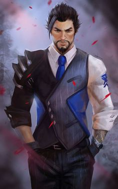 I'm so behind on everything overwatch but I've heard this is now a skin. I could be wrong so don't hate me if I am Overwatch Hanzo, Overwatch Comic, Overwatch Fan Art, Character Concept, Character Art, Character Design, Character Portraits, Disney Marvel, King's Quest