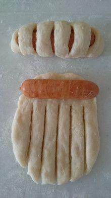 ☆ *レンジ発酵*1時間でウィンナーパン♪。|Vie confortable de Shiori